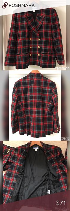 Pendleton Wool Plaid Blazer Like new with no flaws. Feel free to ask questions! Pendleton Jackets & Coats Blazers