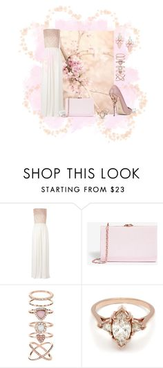 """PINK"" by seralice0 ❤ liked on Polyvore featuring Maison Rabih Kayrouz, Ted Baker, Accessorize, BEA and Cara"