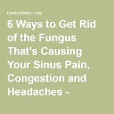 how to get rid of sinus pain fast