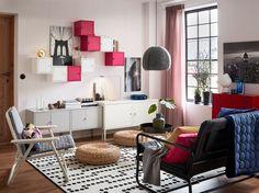 From IKEA · Die LIXHULT Schränke Gibt Es Jetzt Auch In Pink. Perfekt Für  Ein Farbenfrohes Wohnzimmer.