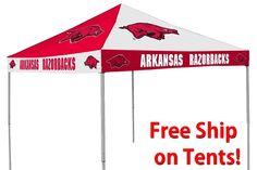 Arkansas Razorbacks Red / White Checkerboard Logo Canopy Tailgate Tent