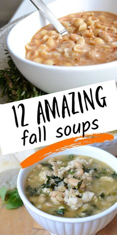 Fall is soup season! There's nothing I love more than a great soup recipe for dinner. These are my 12 favorite soups to make. Best Soup Recipes, Healthy Soup Recipes, Popular Recipes, Crockpot Recipes, Dinner Recipes, Easy Soups To Make, Red Lentil Soup, Lemon Chicken Orzo Soup, White Bean Soup