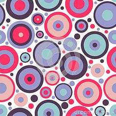 Seamless pattern with circles by Littlepaw, via Dreamstime