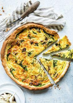 Vegetable Pizza, Quiche, Nom Nom, Bacon, Vegetables, Breakfast, Food, Drinks, Pai