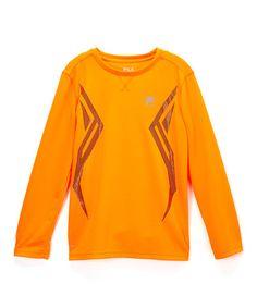 Look what I found on #zulily! Shocking Orange X Logo Thermal Long-Sleeve Tee - Boys #zulilyfinds