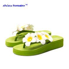 27be1ae8e13280 bohemia women slippers wedge sandal hawaiian sandals thong slippers walking  shoes home mules clogs flower flip