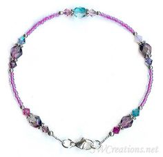 SWCreations Beaded Jewelry Designs - Rhapsody in Blue Crystal Medley Anklet, $31.90 (http://www.swcreations.net/ag8-11-rhapsody-in-blue-crystal-medley-anklet-beaded-jewelry/anklets/8-9-inch-anklets/8-8-inch-anklets.html)