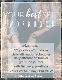 [FREE WORKBOOK] Your Best Self | Affirmations | Gratitude Journal | Self Discovery | Personal Development