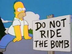 40 Funniest Signs from The Simpsons - Snappy Pixels Running Cartoon, Simpsons Funny, Cartoon Crazy, Batman, Funny Bunnies, Homer Simpson, Funny Signs, Dumb And Dumber, Laughter