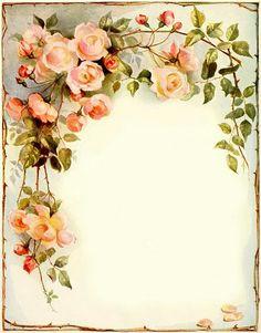Ideas vintage flowers decoupage scrapbooking for 2020 Vintage Ephemera, Vintage Cards, Vintage Paper, Vintage Writing Paper, Vintage Frames, Vintage Prints, Vintage Ideas, Vintage Flowers, Vintage Floral