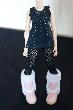 Rhinestud top clothing for slim mini MSD 1/4 size BJD by RoomTwo, £8.00