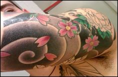 japanese elbow tattoos | sword tattooed in japanese style down to you serious tattoo