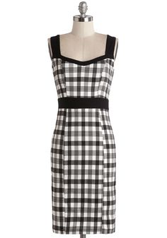 I Am Glam Dress. There are many wonderful things that can be said of you, one being that youre 100% glamorous, especially when dolled up in this black-and-white sheath. #multi #modcloth