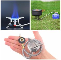[Visit to Buy] Ultralight Dpower  Aluminum Alloy Stainless Steel Outdoor Burn Camping Gas Stove Gas-powered Stove with Piezo Ignition Hiking #Advertisement