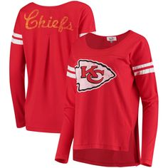 Women's Kansas City Chiefs Touch by Alyssa Milano Red Free Agent Long Sleeve T-Shirt