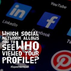 Which social network allows you to see who viewed your profile? Instagram? Twitter? Facebook? NO! Only LinkedIn! Learn how to leverage this feature into potential clients book deals paid speaking gigs and media attention during my upcoming LinkedIn Master Class get registered at http://ift.tt/2kNeilY