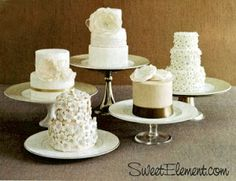 Fondant & Lace: Mini Cake Love