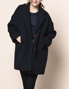 Des Petits Hauts Romain coat - navy - Feather & Stitch