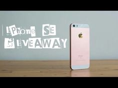 INTERNATIONAL IPHONE SE GIVEAWAY 2016 OPEN!!