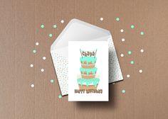 Greeting Card- Christina Filippou - personal birthday on Behance