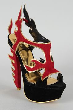 Flamingo Fire Cut Out Open Toe Platform Sandal-yes!!!!!!