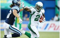 The Saskatchewan Roughriders were forced to take the good with the bad after beating the host Toronto Argonauts on Thursday. Saskatchewan Roughriders, Larry Fitzgerald, Football Helmets, Thursday, Toronto, Fan, Sports, Hs Sports, Sport