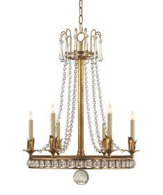 Regency Style Chandelier, Antique Brass