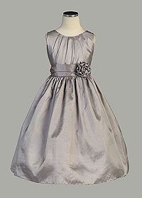 Flower Girl Dreses - Flower Girl Dress Style 355 - Beautiful Pleated Solid Taffeta Dress