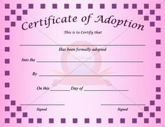 adoption certificate template - Water Efficiency Certificate Template