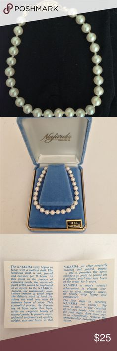 "[Vintage] Najarda 7"" Cultured Pearl Bracelet NIB NIB Vintage 80's Najarda 7"" Cultured Pearl Bracelet in Original Box With Paperwork  * 26 cultured pearls fully knotted together * 14K gold filled spring clasp * Original blue velour box and paperwork Included.  Measurements are approximate: 7"" L X 1/8"" W  ✅Ask questions prior to purchasing. ✅List price is firm. Vintage Jewelry Bracelets"