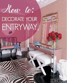 How to decorate your entryway console table    (image jonathan adler)