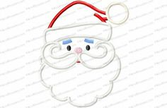 Santa Claus Face Applique Embroidery Design