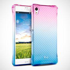 Sony-Xperia-M4-Aqua-Case-Colorful-Edge-Bumper-TPU-Transparent-Bumper-Case-Cover