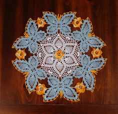 Beautiful Crocheted Butterfly Doily