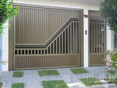 modelo de portão para casa térrea Home Gate Design, Grill Gate Design, House Main Gates Design, Steel Gate Design, Front Gate Design, Window Grill Design, Fence Design, Door Design, Front Gates