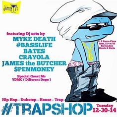 Now 12/30 - SanJose Last Trap Shop of 2014 feat. YDMC, Sean Blak, James Butcher and more !! Check out new EP #SBYD