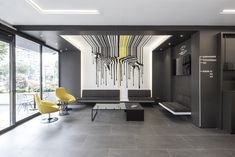 View the full picture gallery of Dentcraft Polyclinic Dental Reception, Office Reception, Contemporary Office, Modern, Dental Office Decor, Japanese Minimalism, Dental Office Design, Clinic Design, Waiting Area
