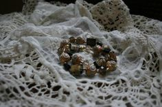 Luster Beads and Swirled Clay Bracelet Set