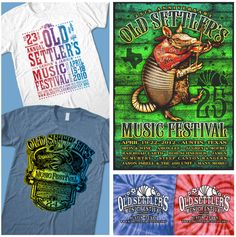 Custom Screen Printing in Austin, TX | Outhouse Designs | Our Work  Old Settlers Fest.
