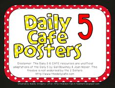 Mandy's Tips for Teachers: Daily Five Freebie