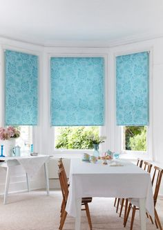 Brighten a plain room with a hint of colour and pattern, add this to a background of wood and white to create an impact. Made to measure roller blinds would work perfectly with this!