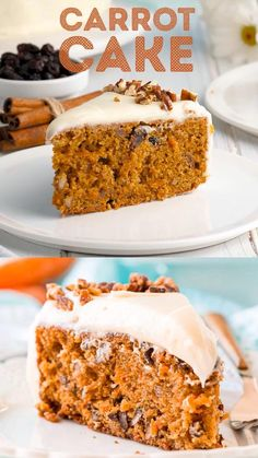 Fun Baking Recipes, Homemade Cake Recipes, Sweet Recipes, Cookie Recipes, Dessert Recipes, Fresh Carrot Cake Recipe, Best Carrot Cake, Carrot Cakes, Single Layer Carrot Cake Recipe