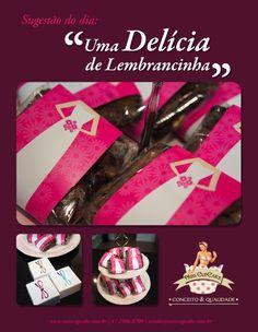 Dica de Lembrancinha: Um delicioso Brownie embalado com a nossa Cinta Para Doces e Salgados!!