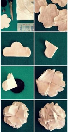 Transform old T-shirt into flower-shaped brooch