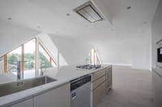 West Byfleet Penthouse £795k Open Plan Living, Living Spaces, How To Plan, Kitchen, Home Decor, Cooking, Decoration Home, Room Decor, Kitchens