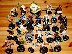 Lot of Attacktix Star Wars Action Figures w Weapons Action Battle Figures #Hasbro