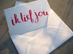 Kaart Ik lief jou door MargOntwerp op Etsy