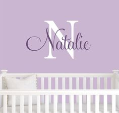 Monogram Name Wall Decal children Initial girl by hicomehere, $24.50