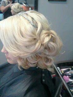 side updo formal wedding prom hair