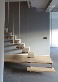 zwevende trap met staal - Google zoeken